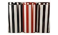 3 Kaffeepaddosen Streifen/Punkte in schwarz, rot und braun (18 Pads)