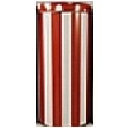 Kaffeepaddose Streifen/Punkte in Rot (18 Pads)
