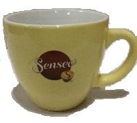 Sensseo Tasse/Becher Gross Grün/Gelb