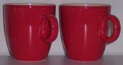 2 Tassen: Rot für Senseo Kaffee (165ml)